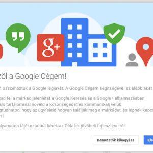 Google Cégem alkalmazás