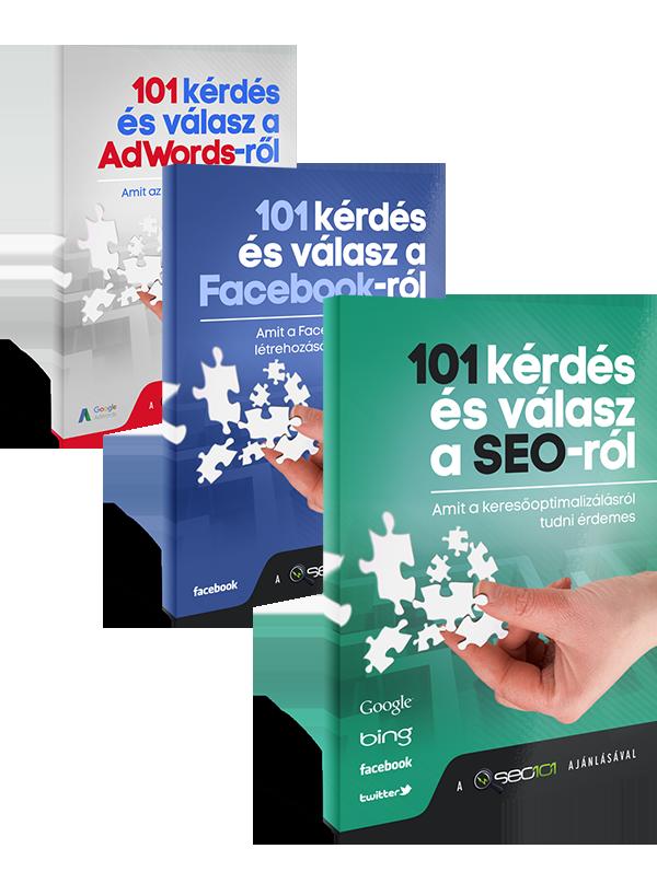 SEO, Facebook és Google Ads könyv